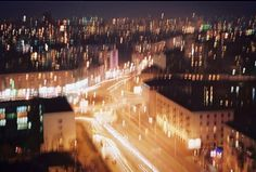 red ink on paper #film #analog #junk #camera #photo #night #kyiv #roof #street #shake #ukraine #weird #kiev