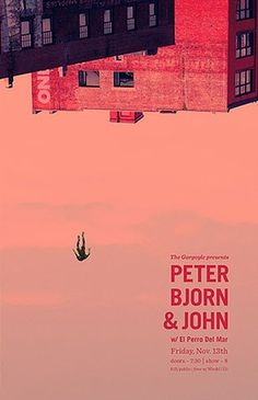 FFFFOUND! | GigPosters.com - Peter Bjorn And John - El Perro Del Mar #music #peter #bjornjohn #poster