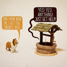 The Upper Hand | Flickr - Photo Sharing! #lassie #illustration #cartoon #funny #dog