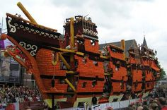 Bloemencorso Zundert 2012 Parade of flowers art ship #sculpture #of #art #flowers #parade
