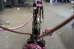 JohnnyCoast headbadge.jpg #bikes #workshop #bicycle