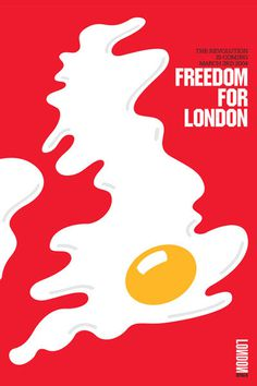 timeout_egg #egg #white #red #london #freedom #illustration #poster