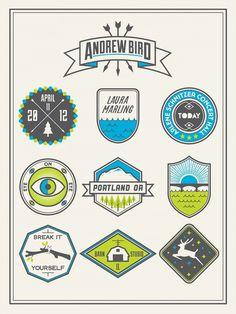 Dribbble - ANDREW BIRD POSTER 03.jpg by Stewart Scott-Curran #logo #stamp #design #poster