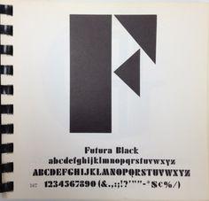 Daily Type Specimen | Futura Black #font #specimen #type #typography