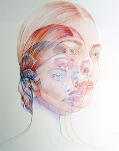 Experimental Ballpoint Pen Art by Ler Huang - JOQUZ #ballpoint #drawing #color