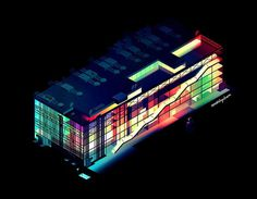 Aswad Theory #illustration #aerial #lights #neon #80s #top #romaintrystram #bulidings