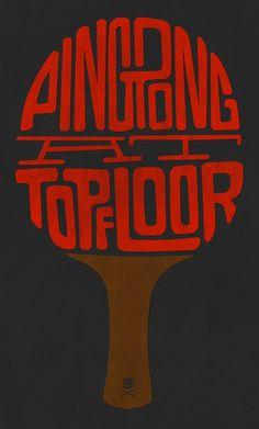 Ping pong by Simon Ã…lander #type #pingpong #logo
