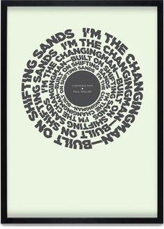 Change Posters | KentLyons #typography #poster #lyrics #change #charity #buy #weller