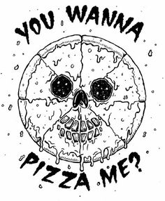Peace Za Jamie Browne Art #illustration #pizza