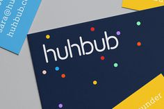 hibhub branding corporate design identity business card logo logotype animated beautiful minimal color colors colorful print website mindspa