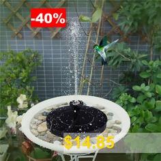 Home #and #Garden #Solar #Bird #Bath #Fountain #Pump #- #BLACK