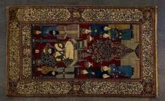 Image carpet. PERSIA, circa 1900, approx. 212x130 cm