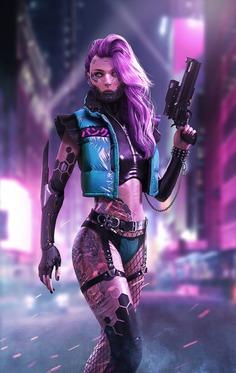 Cyberpunk female killer, DaoDao Mao