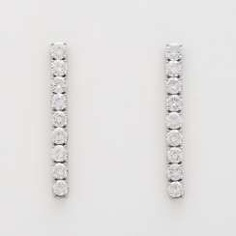 Pair of drop earrings with 18 diamonds