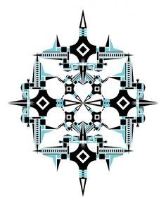 O Açougue De Minhas Próprias Idéias #vector #snow #flake