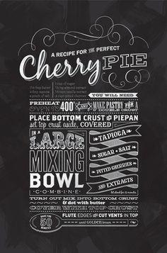 ♥ GRAPHISM & FONTS / Typographic Dessert Recipe Prints by Leanda Zavian of One Little Bird Studio