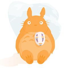 Sneaky Totoro. #illustration #ghibli #film4 #totoro