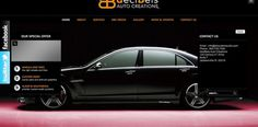 Webdesign Screenshot of Decibels Customs #creative #design #box #black #deciblescustomcom #web