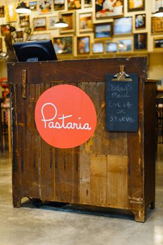 Pastaria brand identity design #logotype #circle #script #red #orange #monoweight #logo #typography