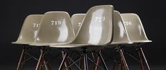 Eames army-green shell chairs #hell
