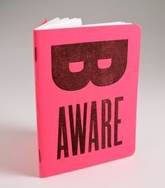 be aware mini journal #breast #mini #pink #letterpress #journal #awareness #cancer #thetypeleague