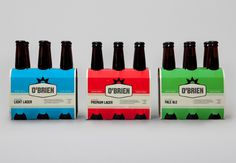 O'Brien Beer Packaging #packaging #beer #color