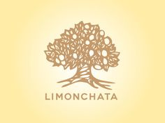 Limonchata #tree #illustration #logo #lemon #cello #wordmark