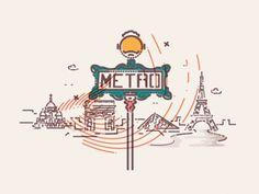Paris underground x Colour and Lines