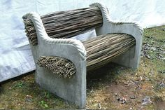Sassafras (mixgreen: willow bench) #natural #design #seating