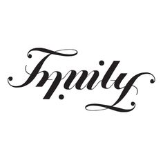 Family Ambigram #ambigram #family #script #typography