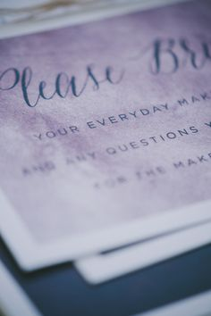 makeup-63 #wedding #invite #suite #invitation #stationery #purple #moody #paper