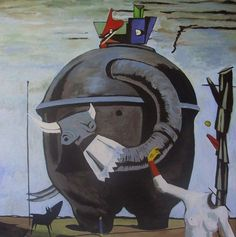 Surrealism painting by artist Max Ernst #surrealism #surrealistic #painting #paintings