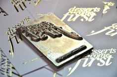 Desserts Come First Business Card on Behance #business card #plate #debossed