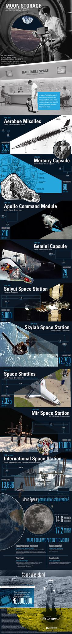 Storing stuff on the moon could be pricey, but vacationing there could be doable.Check out this infographic for more. #moon storage #using t