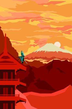 Sengoku Basara Art Print by Phil Giarrusso | Society6 #mountains #japan #sky