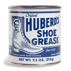 Huberd's Shoe Grease #shoe #tin #brand #can #package