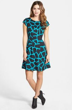 Women's 'Antalia' Giraffe Print Dress