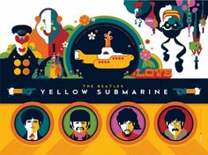 Dark Hall Mansion > FIRST EVER OFFICIALLY LICENSED BEATLES YELLOW SUBMARINE ART PRINT FOLIOS GO ON SALE MAY 29th! #beatles #yellow #tom #illustration #submarine #whalen