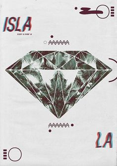 Poster and Magazine #palm #diamond #isla #graphic #poster #magazine