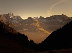 Olivier Metzger, Retour à Au, série Smile Forever #mountain #sunset #photography #nature
