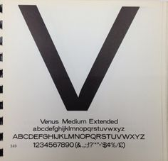 Daily Type Specimen | Venus by Bauer, one of the first great grotesque... #type #specimen #typography