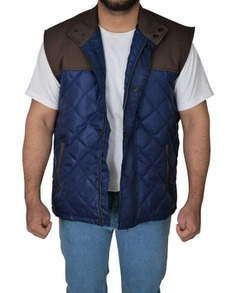 Alex Roe The 5th Wave Diamond Quilted Vest (3) F-O