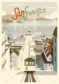 San Francisco poster by Kevin Dart #francisco #illustration #san