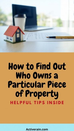 Methods to Find Out Who Owns a House Infographic