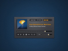 Music player psd Free Psd. See more inspiration related to Music, Orange, Psd, Player and Horizontal on Freepik.