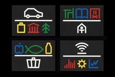 icons, grid