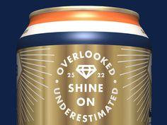 Beer, Can, Packaging, Label