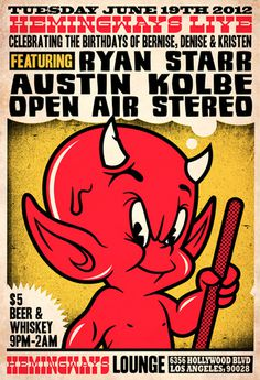 GigPosters.com - Ryan Starr - Austin Kolbe - Open Air Stereo