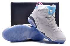 Nike Air Jordan Retro 6 Vi Mens White New Purple