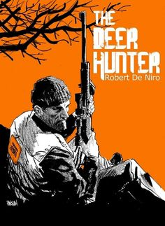 The Deer Hunter by *urban-barbarian on deviantART #deer #illustration #orange #hunter